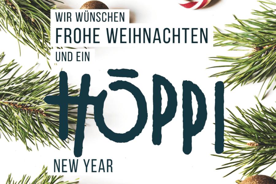 """Frohe Weihnachten und ein """"Höppi new Year"""""""